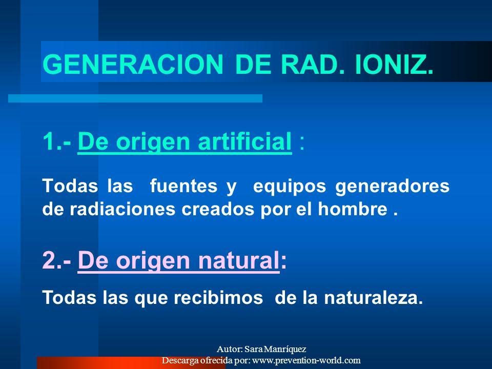 GENERACION DE RAD. IONIZ.
