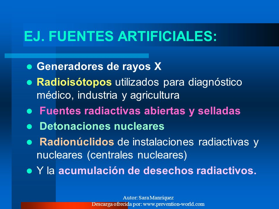 Radiaciones ionizantes ppt video online descargar for Fuentes artificiales