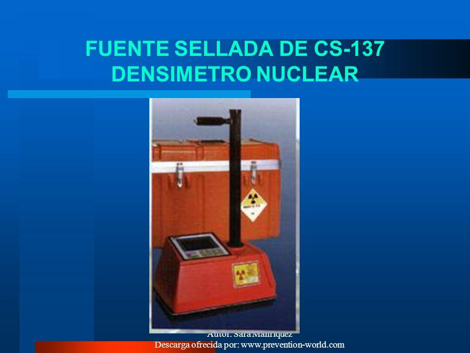 FUENTE SELLADA DE CS-137 DENSIMETRO NUCLEAR