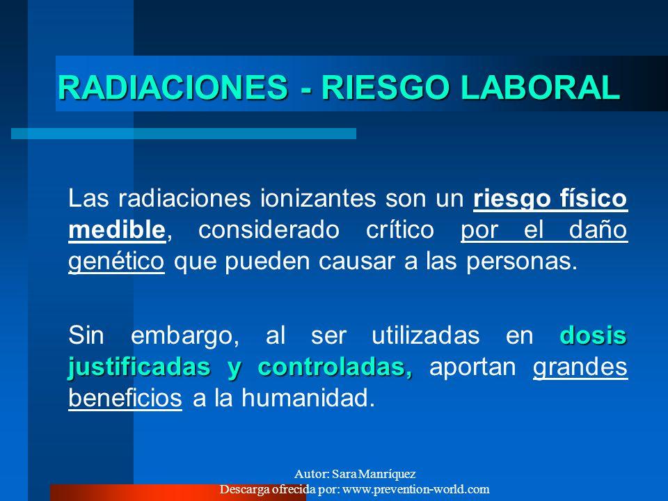 RADIACIONES - RIESGO LABORAL