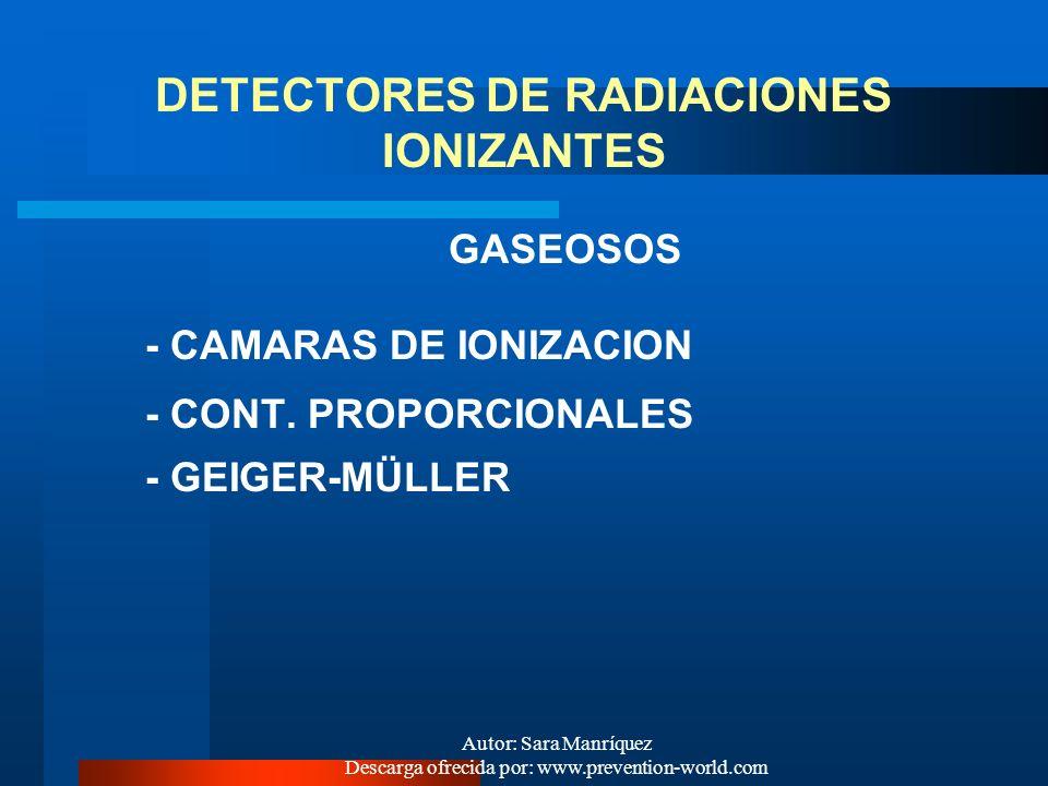 DETECTORES DE RADIACIONES IONIZANTES