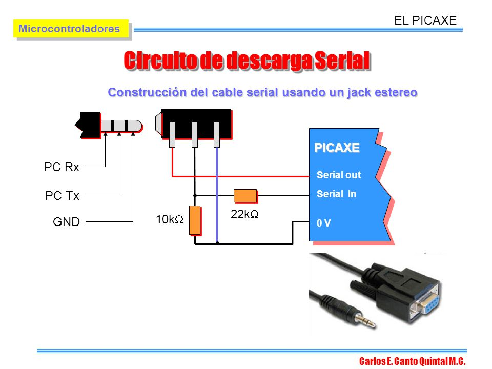 Circuito de descarga Serial