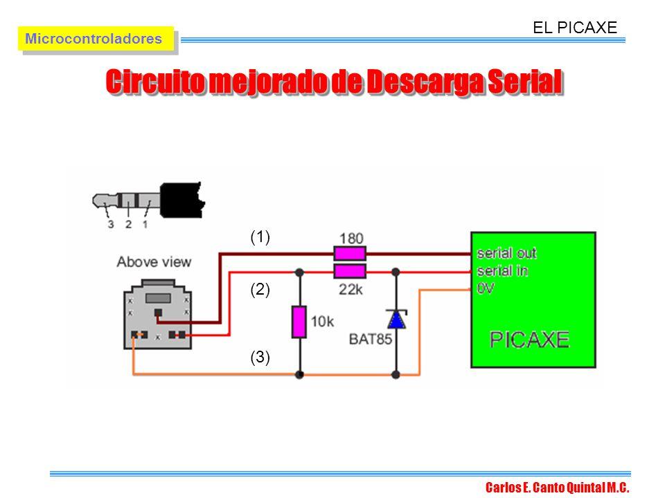 Circuito mejorado de Descarga Serial