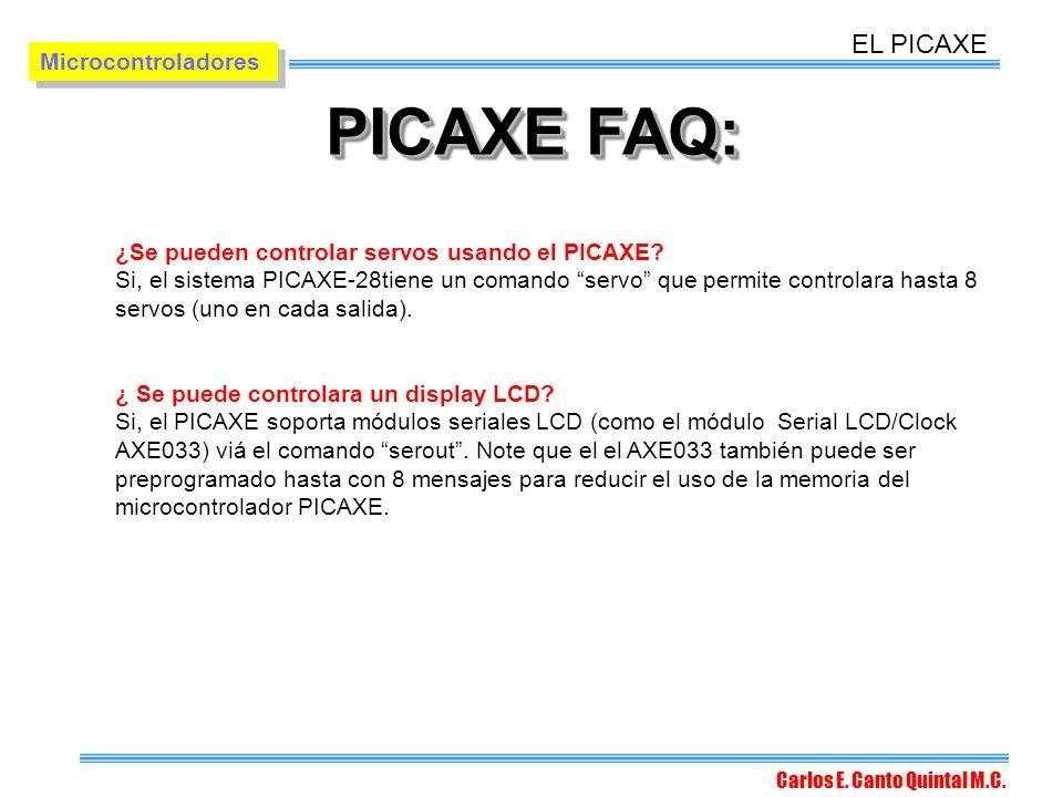 PICAXE FAQ: EL PICAXE Microcontroladores