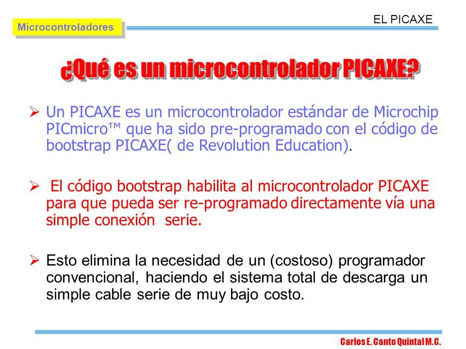 ¿Qué es un microcontrolador PICAXE