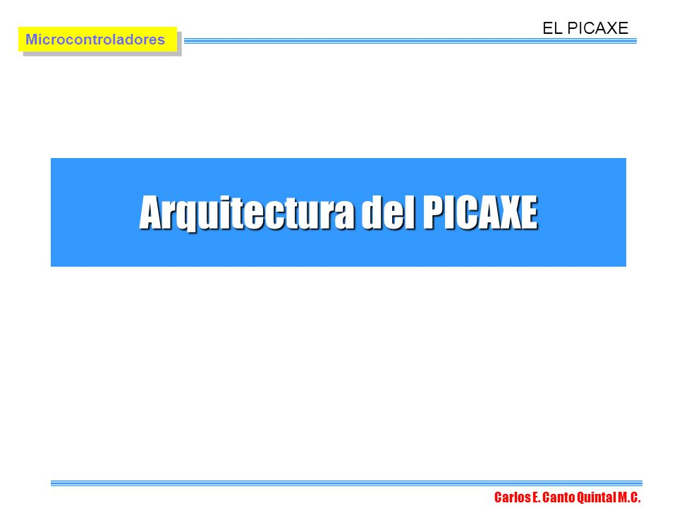 Arquitectura del PICAXE
