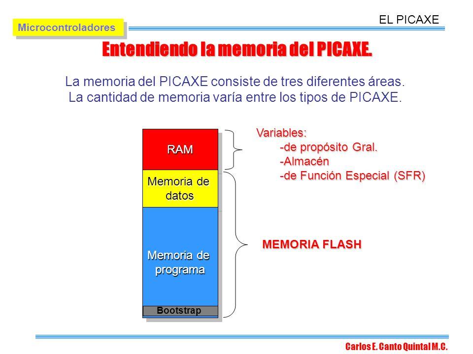 Entendiendo la memoria del PICAXE.
