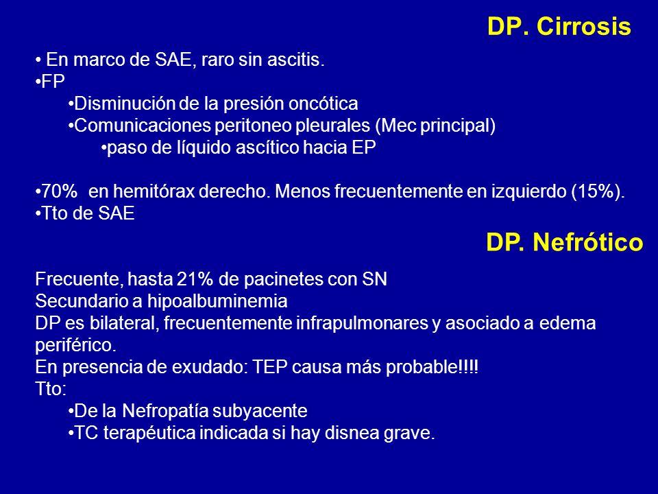 DP. Cirrosis DP. Nefrótico