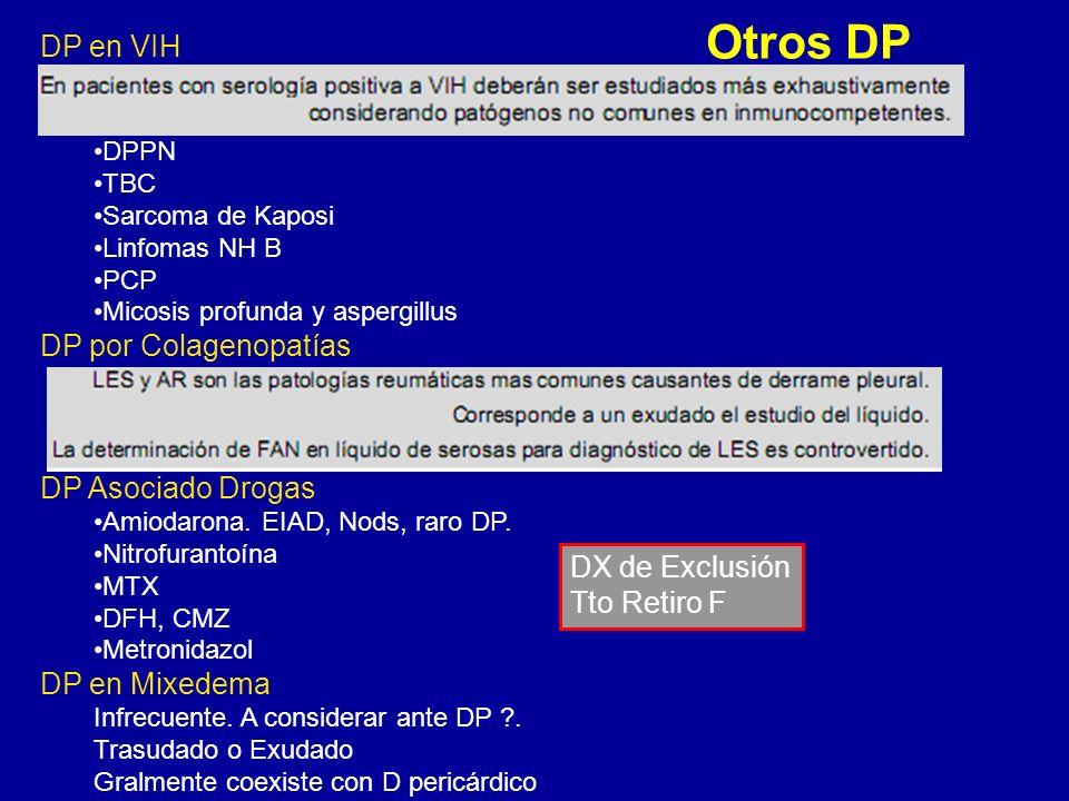 Otros DP DP en VIH DP por Colagenopatías DP Asociado Drogas