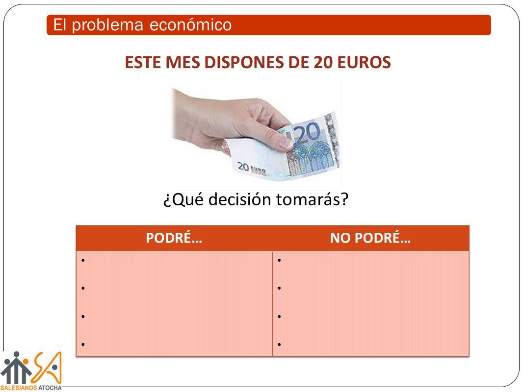 ESTE MES DISPONES DE 20 EUROS