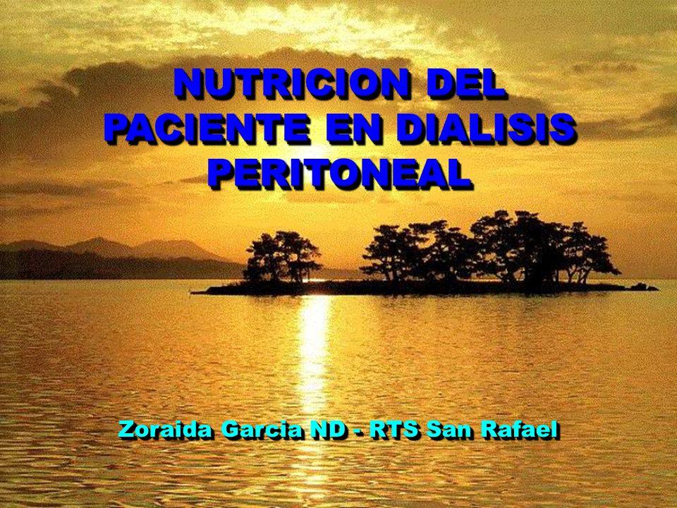 NUTRICION DEL PACIENTE EN DIALISIS PERITONEAL