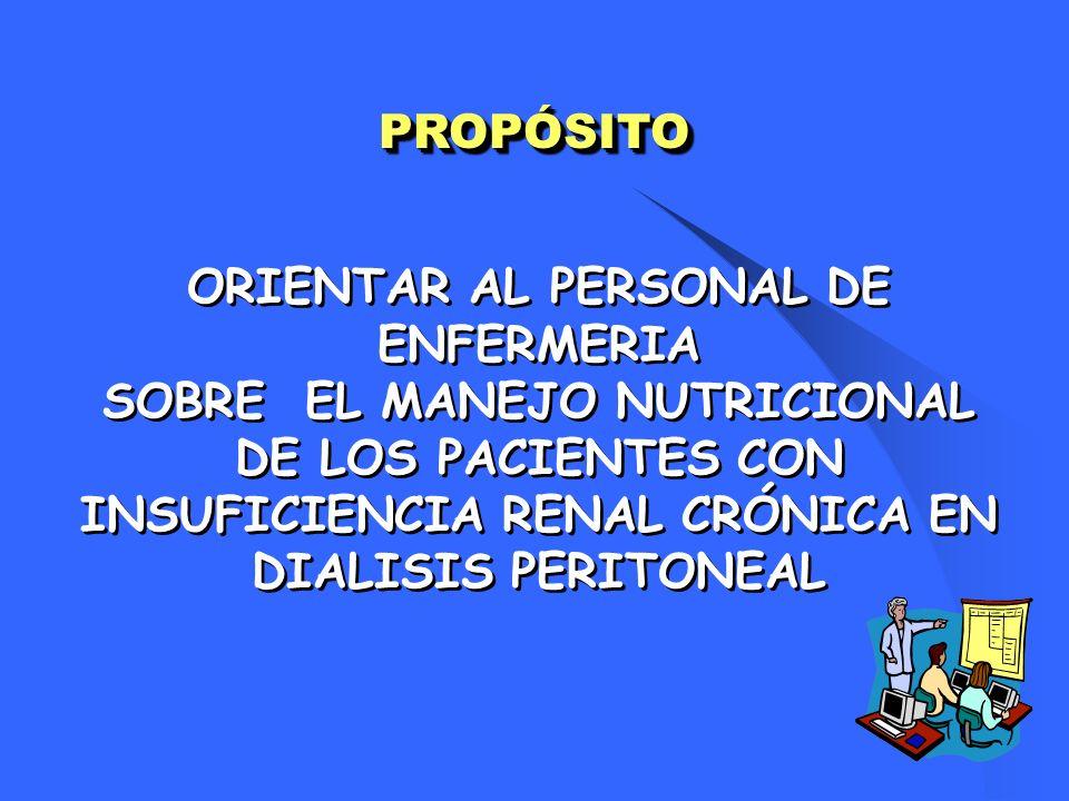 ORIENTAR AL PERSONAL DE ENFERMERIA SOBRE EL MANEJO NUTRICIONAL