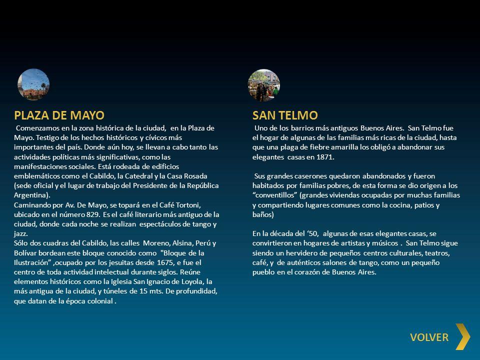 PLAZA DE MAYO SAN TELMO VOLVER