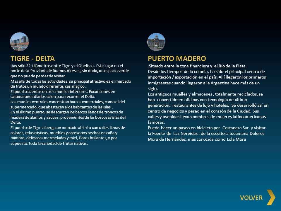 TIGRE - DELTA PUERTO MADERO VOLVER