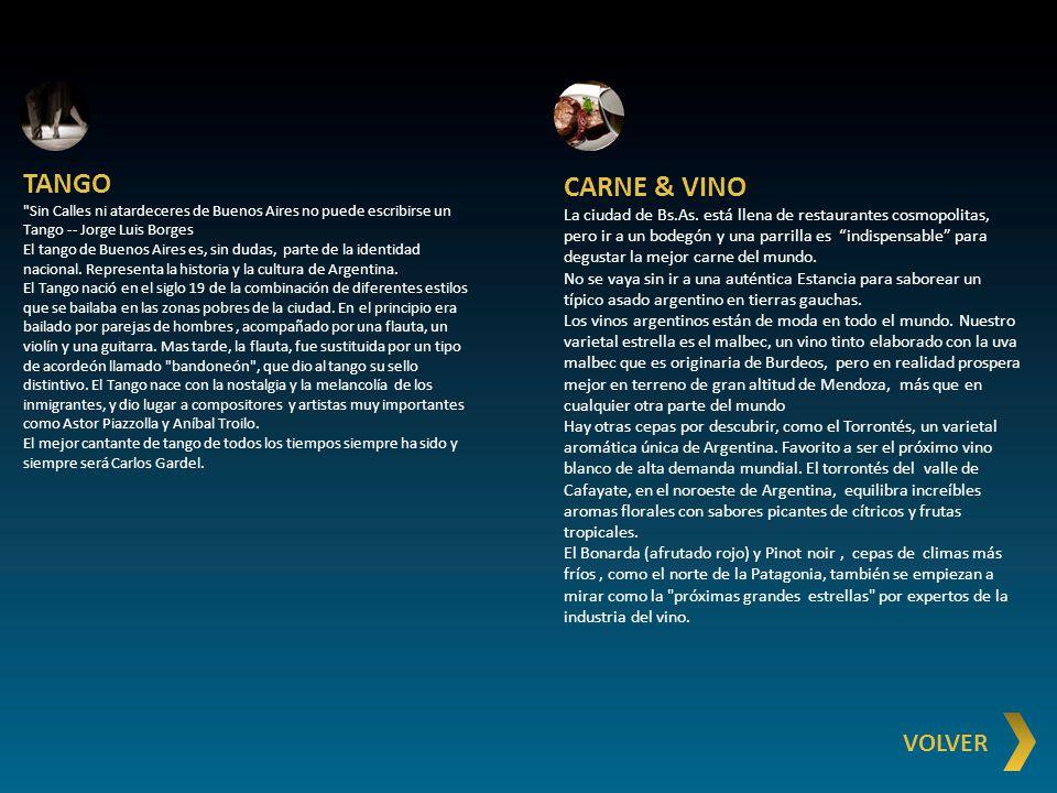 TANGO CARNE & VINO VOLVER