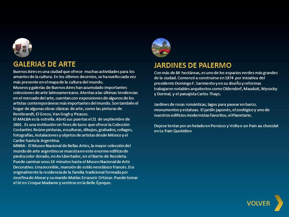GALERIAS DE ARTE JARDINES DE PALERMO VOLVER