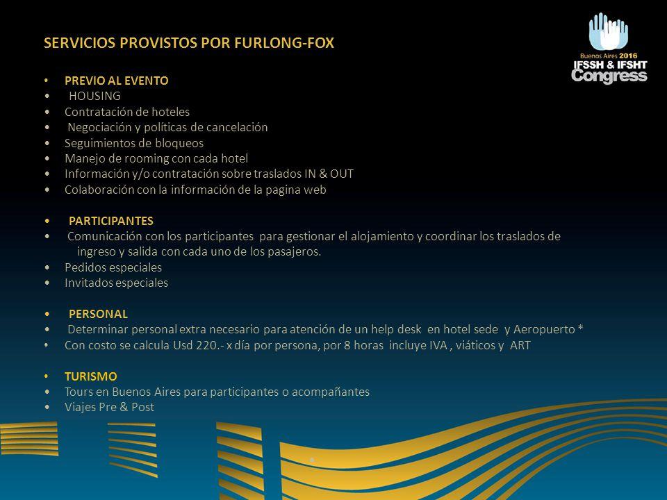 SERVICIOS PROVISTOS POR FURLONG-FOX