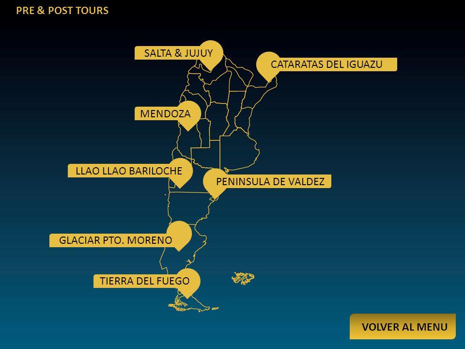 PRE & POST TOURS SALTA & JUJUY CATARATAS DEL IGUAZU MENDOZA