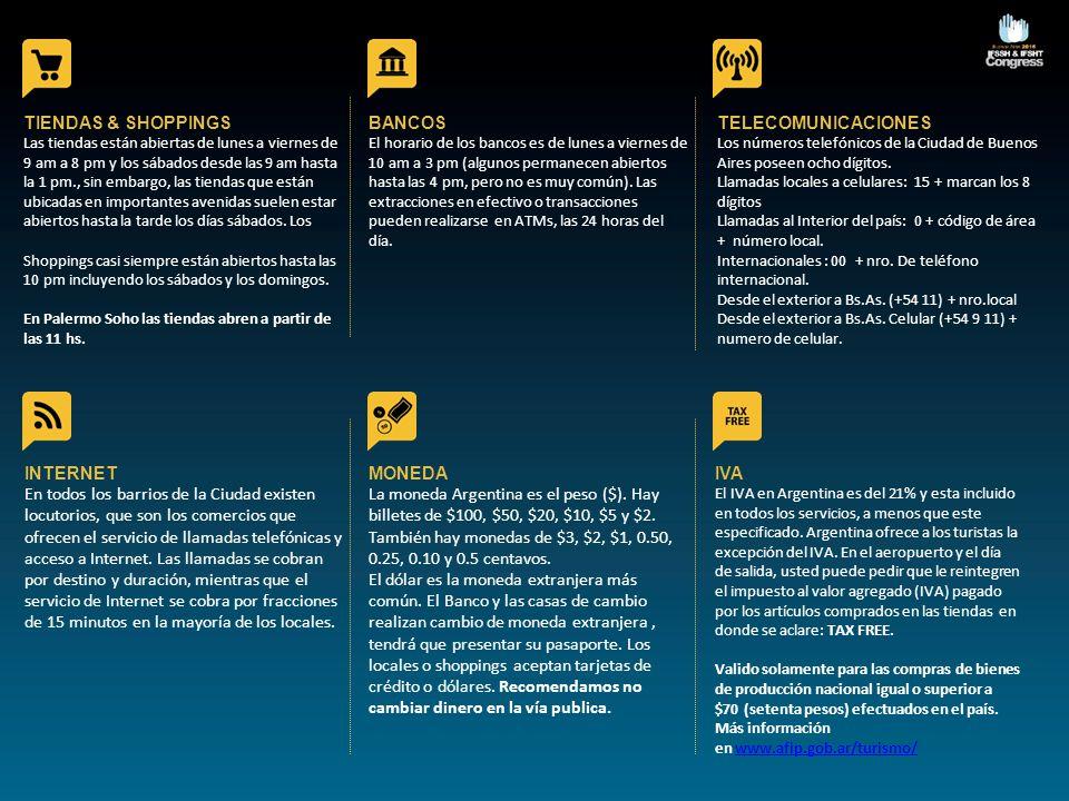 TIENDAS & SHOPPINGS BANCOS TELECOMUNICACIONES INTERNET