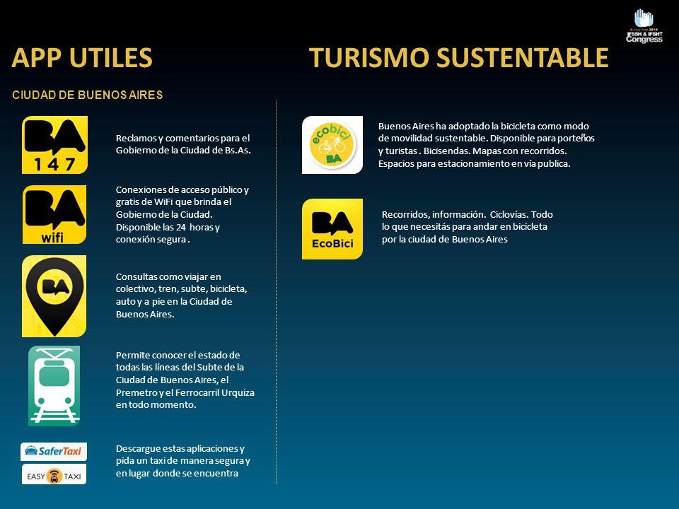 APP UTILES TURISMO SUSTENTABLE CIUDAD DE BUENOS AIRES