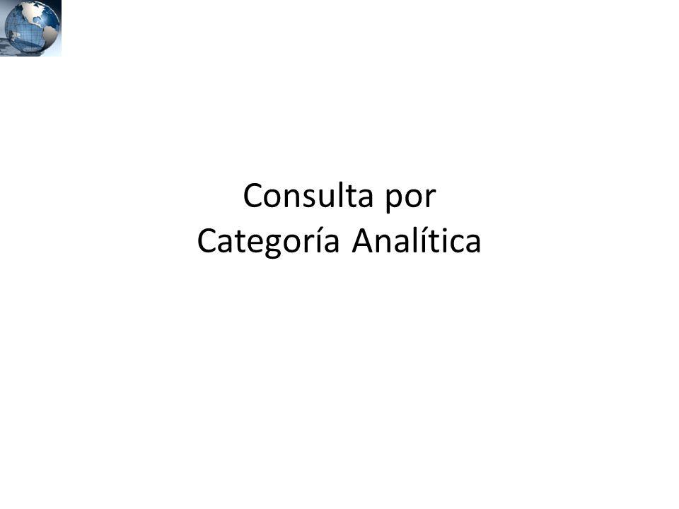 Consulta por Categoría Analítica