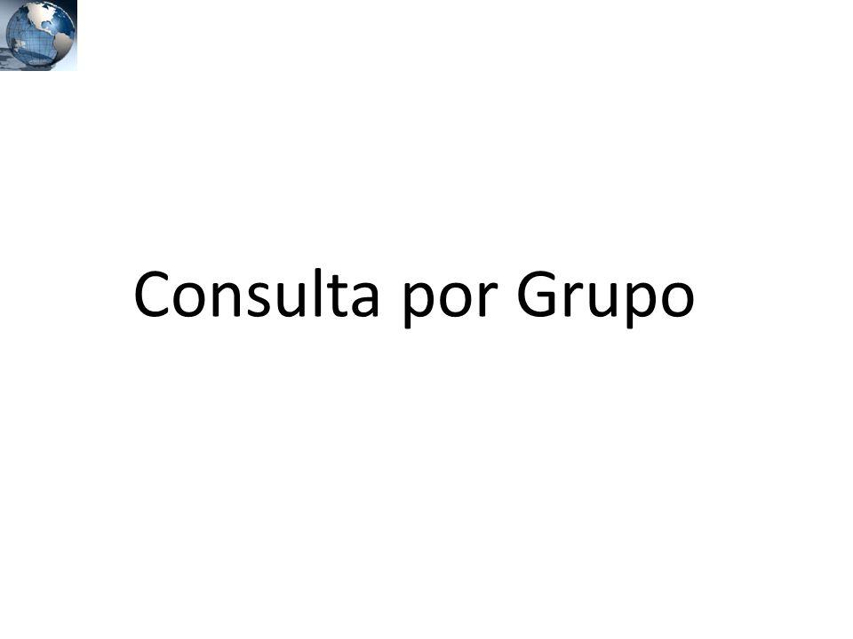 Consulta por Grupo