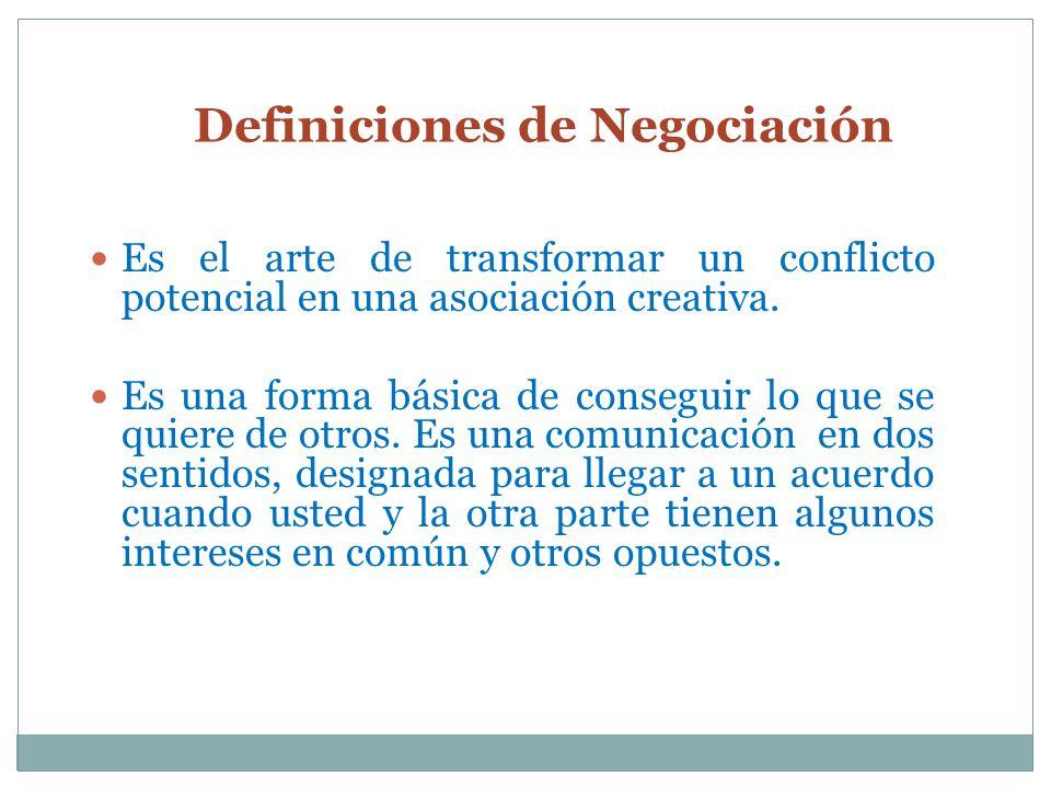 Definiciones de Negociación
