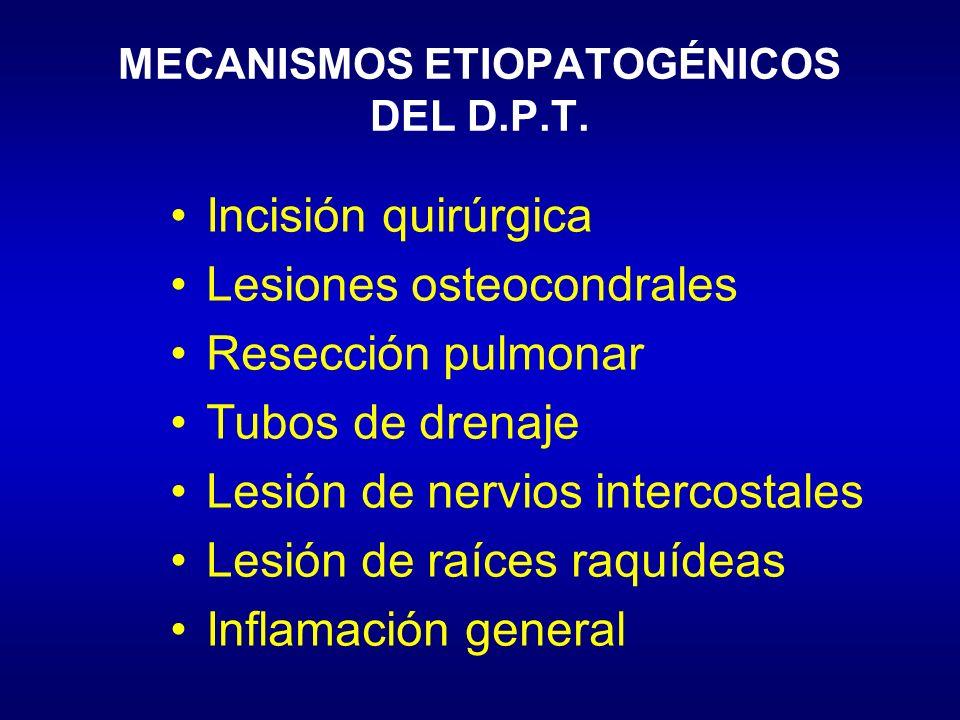 MECANISMOS ETIOPATOGÉNICOS DEL D.P.T.