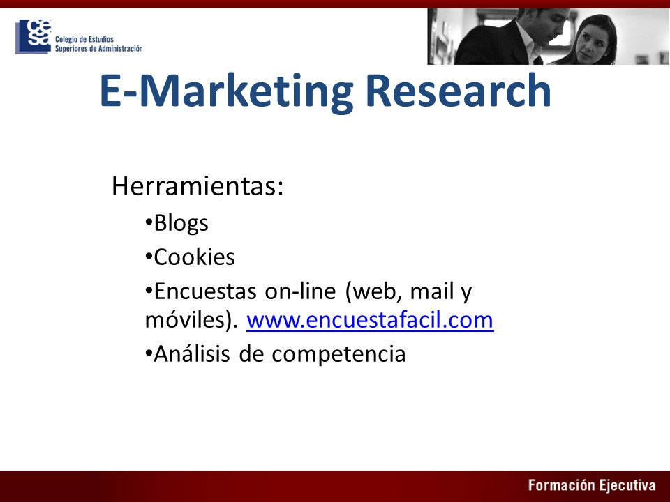 E-Marketing Research Herramientas: Blogs Cookies