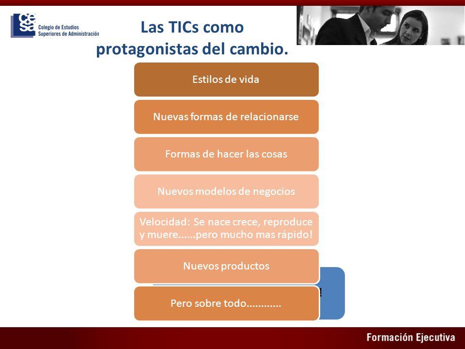 Las TICs como protagonistas del cambio.
