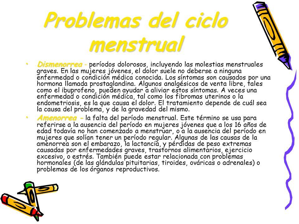 Problemas del ciclo menstrual