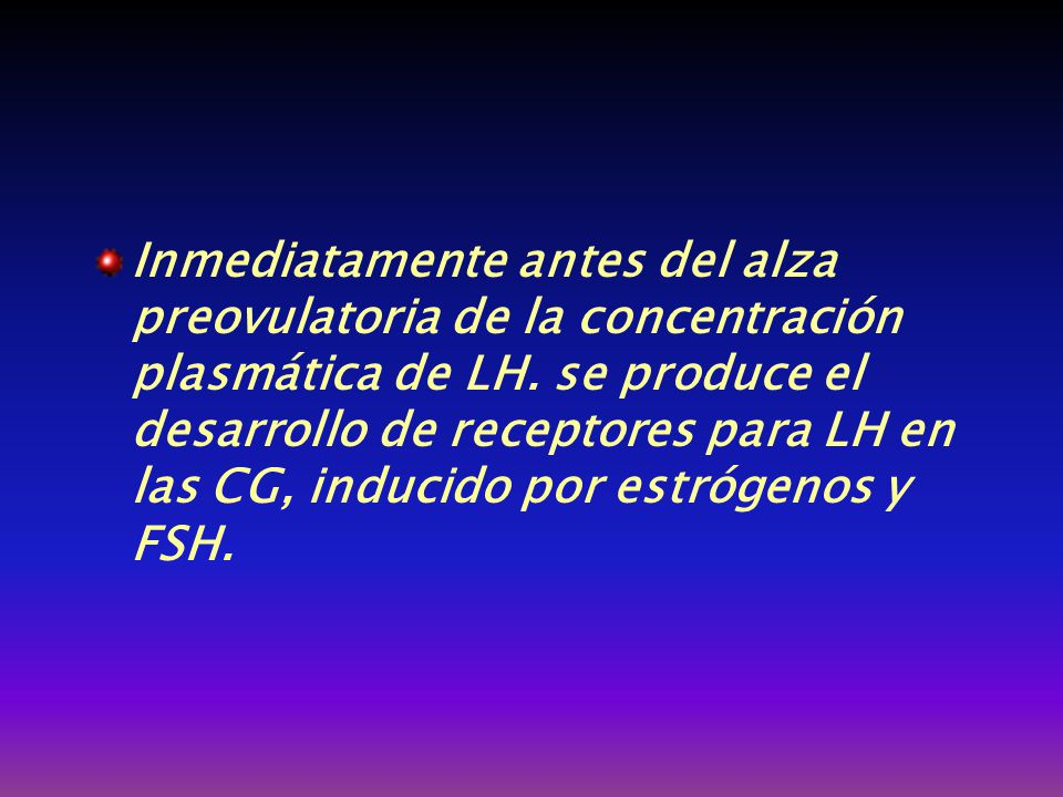 Inmediatamente antes del alza preovulatoria de la concentración plasmática de LH.
