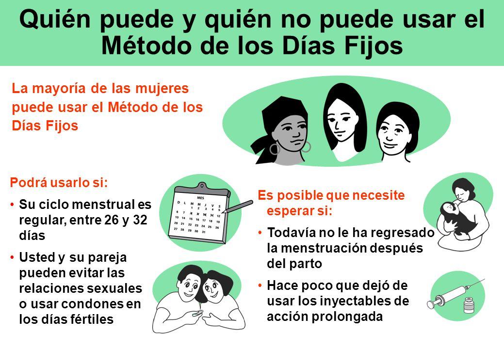 Quién puede y quién no puede usar el Método de los Días Fijos