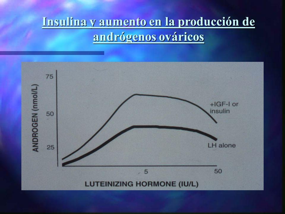 Insulina y aumento en la producción de andrógenos ováricos