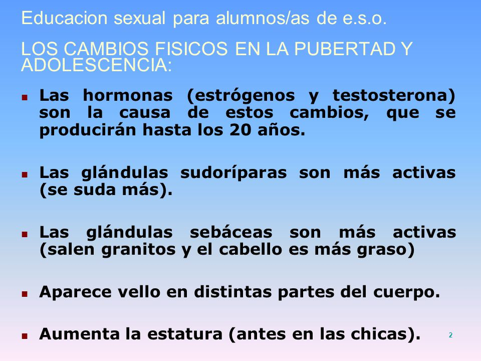 Educacion sexual para alumnos/as de e. s. o