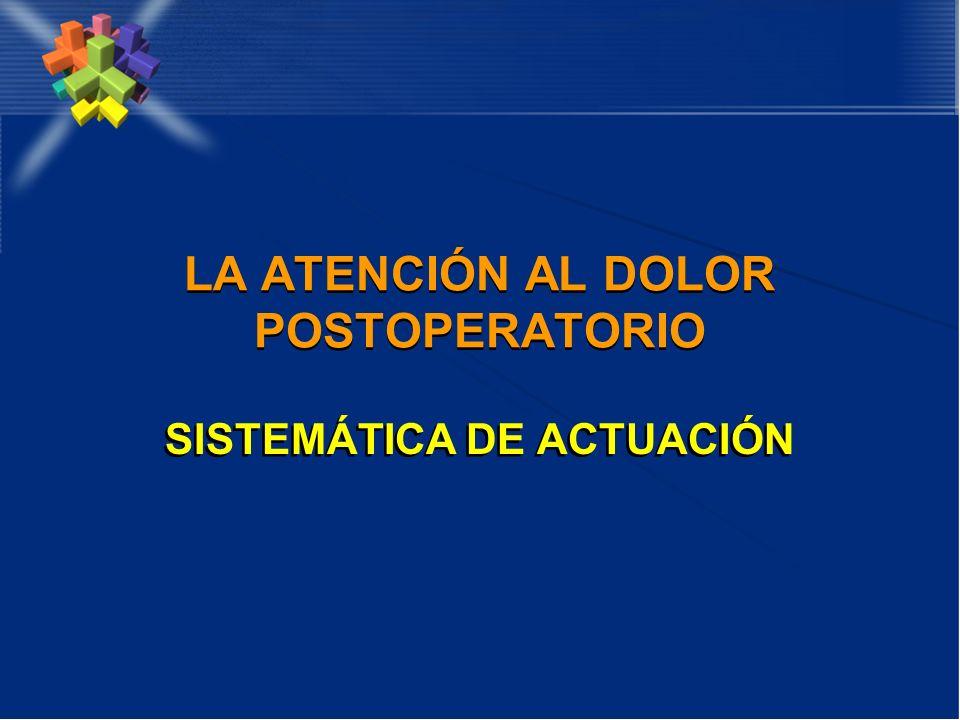 LA ATENCIÓN AL DOLOR POSTOPERATORIO