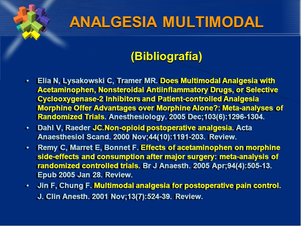 ANALGESIA MULTIMODAL (Bibliografía)
