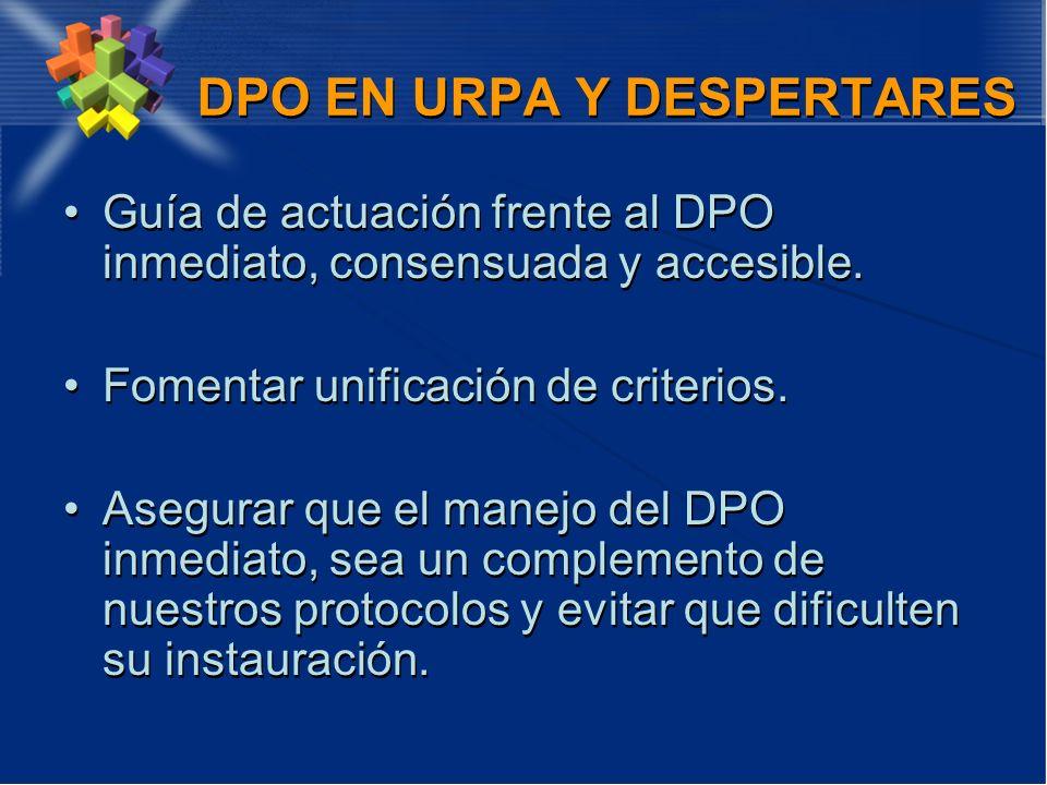 DPO EN URPA Y DESPERTARES