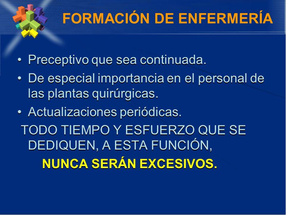 FORMACIÓN DE ENFERMERÍA