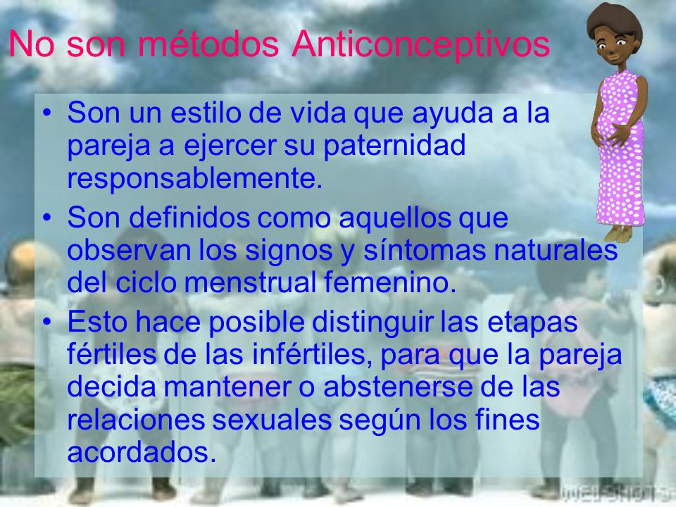 No son métodos Anticonceptivos