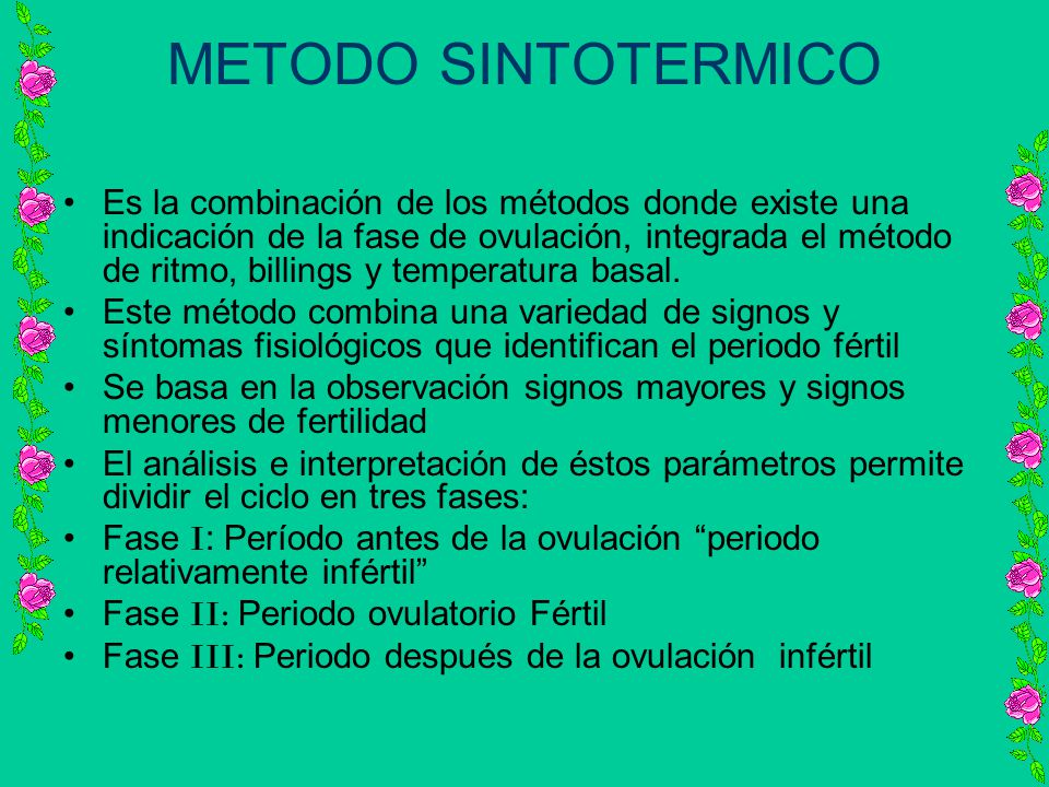 METODO SINTOTERMICO
