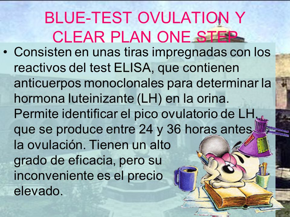 BLUE-TEST OVULATION Y CLEAR PLAN ONE STEP