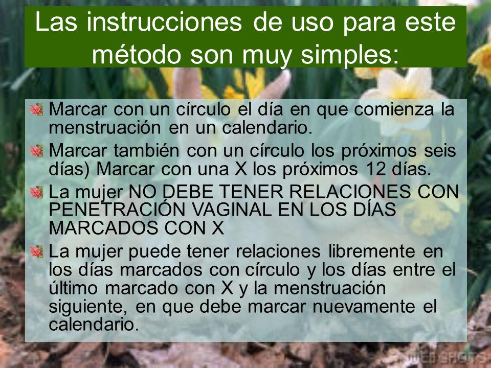 Las instrucciones de uso para este método son muy simples:
