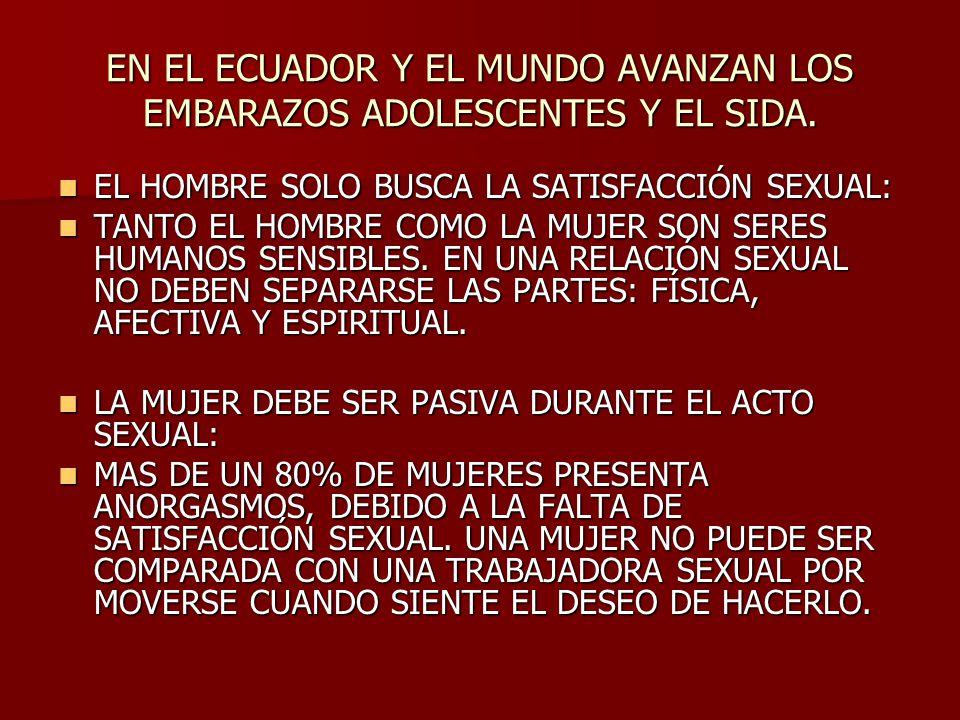 EN EL ECUADOR Y EL MUNDO AVANZAN LOS EMBARAZOS ADOLESCENTES Y EL SIDA.