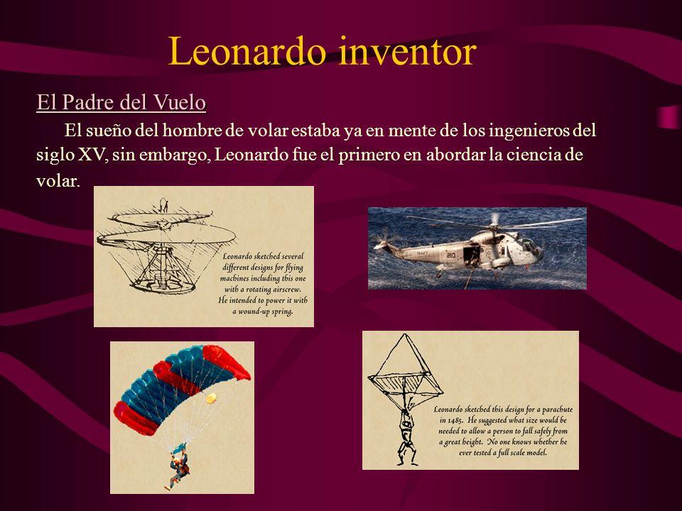 Leonardo inventor El Padre del Vuelo