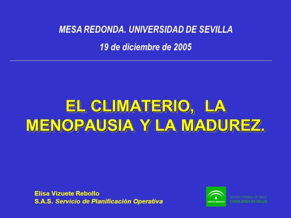 EL CLIMATERIO, LA MENOPAUSIA Y LA MADUREZ.