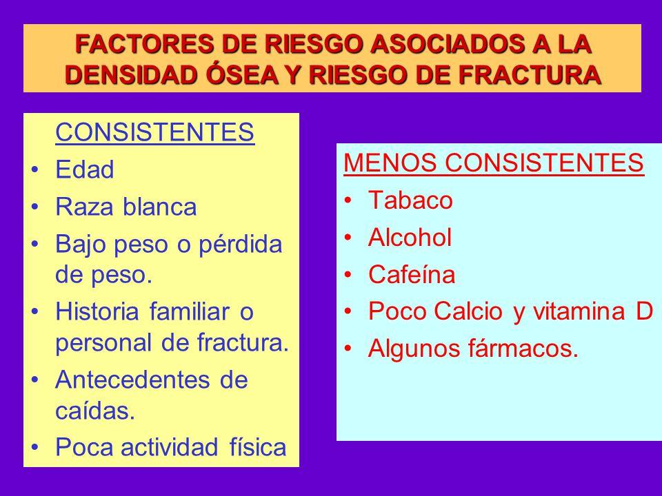 FACTORES DE RIESGO ASOCIADOS A LA DENSIDAD ÓSEA Y RIESGO DE FRACTURA