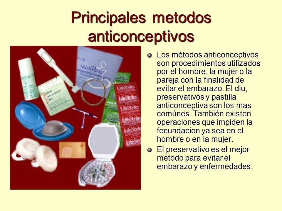 Principales metodos anticonceptivos