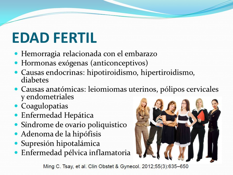 EDAD FERTIL Hemorragia relacionada con el embarazo