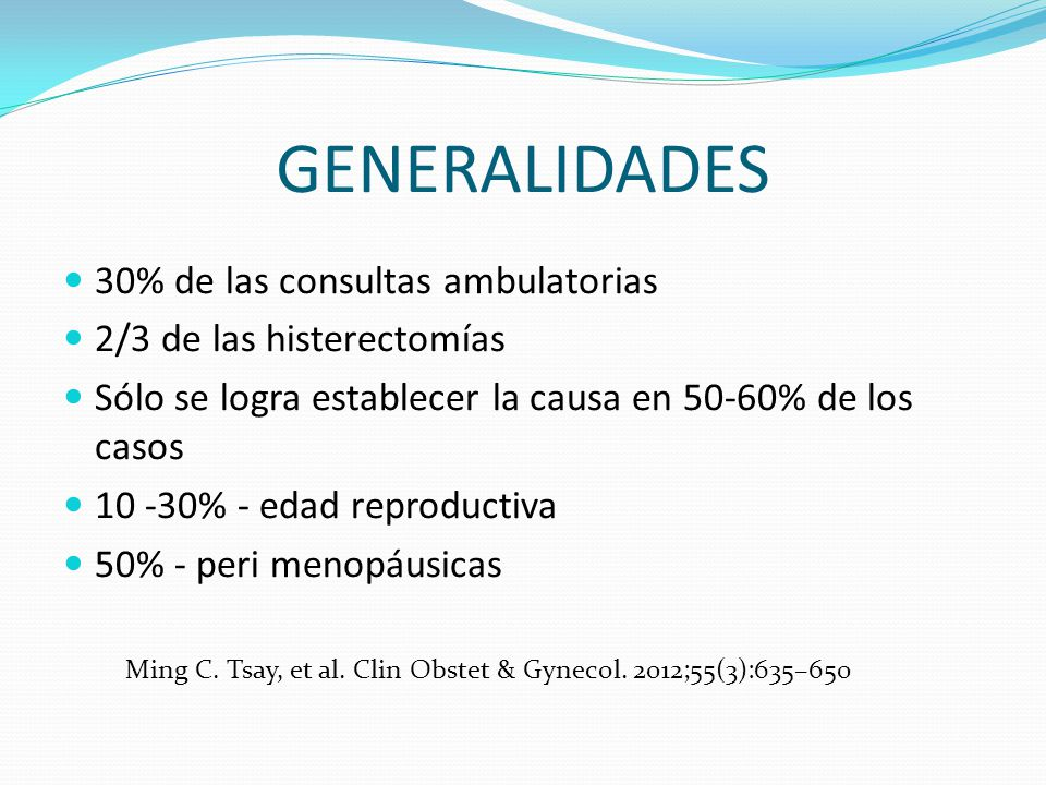 GENERALIDADES 30% de las consultas ambulatorias